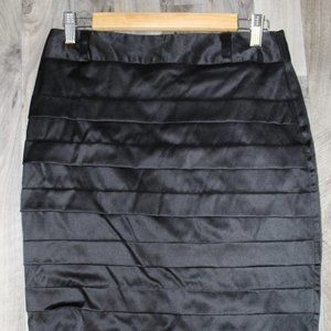 2/$20 A. Byer Pleated Black Pencil Skirt 9